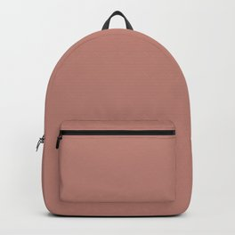 Solid Color - Pantone Rose Dawn 16-1522 Pink Backpack