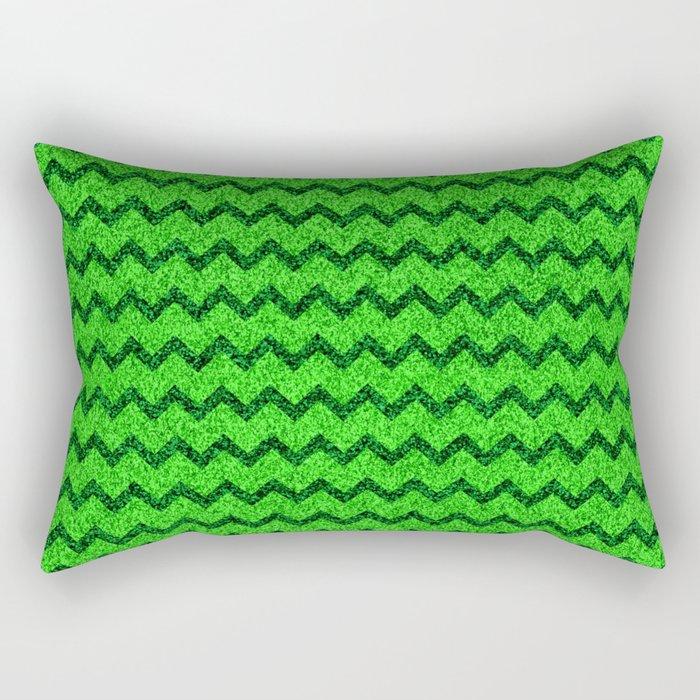 Chevron Glitter Pattern 05 Rectangular Pillow