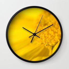 yellow yellow Wall Clock