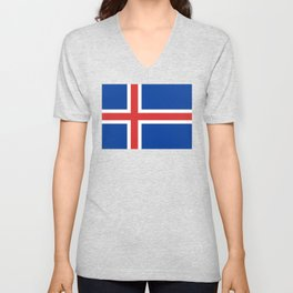 National flag of Iceland Unisex V-Neck
