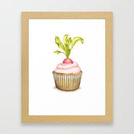 Radish cupcake Framed Art Print