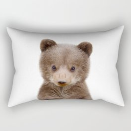 Baby Bear Cub Portrait Rectangular Pillow
