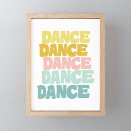 Dance in Candy Pastel Lettering Framed Mini Art Print