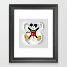 Snow Mickey Framed Art Print