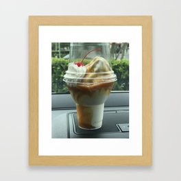 With a cherry on top? Framed Art Print