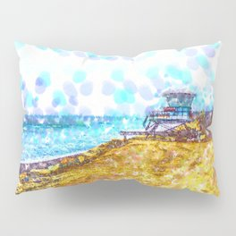 Life Guard Station On A Lonely Beach Pillow Sham