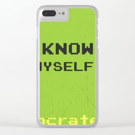 Know thyself. Socrates quote Clear iPhone Case