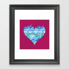 A Sea of Love (purple) Framed Art Print