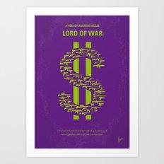 No281 My LORD OF WAR minimal movie poster Art Print
