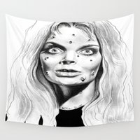 witch Wall Tapestries featuring Witch by Leyla Buk