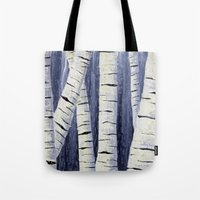 birch Tote Bags featuring Birch by Sarah Yee