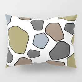 Several abstract terrazo shapes in many colors perfect for garment and accesories Pillow Sham