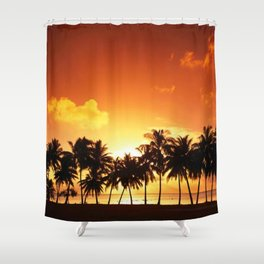 Sunset in Paradise II Shower Curtain