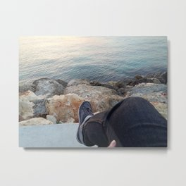 Sea Chilling Time Metal Print