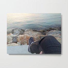Sea Chilling Time Metal Print