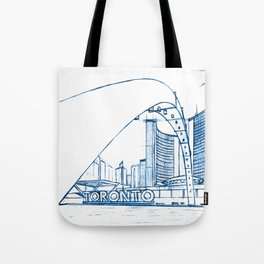 BluePrints | City Hall - Toronto Tote Bag