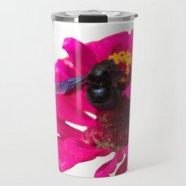 isolated bluebottle on flower Travel Mug