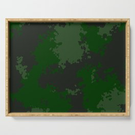 Camouflage jungle 1 Serving Tray
