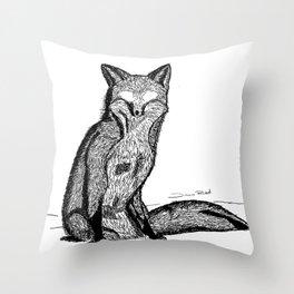 FOX EYES Throw Pillow