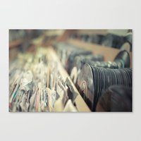 records Canvas Prints featuring Records by Jake Boeve