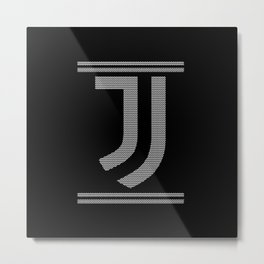 Juve Knitted Chistmas Metal Print