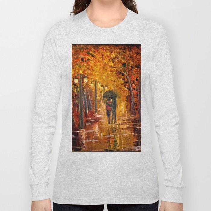 Les amoureux sous la pluie Long Sleeve T-shirt