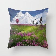 Bigfoot Mountain Meadow Throw Pillow