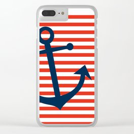 Nautical Anchor Clear iPhone Case