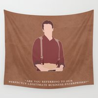 firefly Wall Tapestries featuring Firefly - Mal by MacGuffin Designs