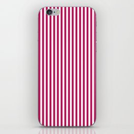 Red- crimson striped 1 iPhone Skin