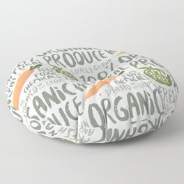 Organic Produce Floor Pillow