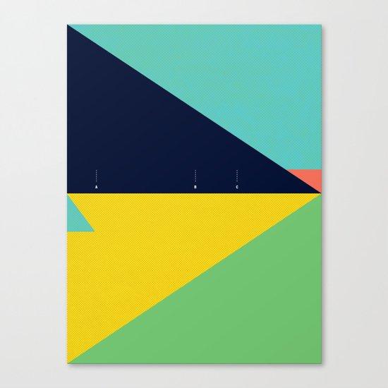 Secret Surf Map (Low Tide) — Matthew Korbel-Bowers Canvas Print