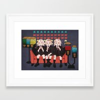 ahs Framed Art Prints featuring AHS Hotel by minniemorrisart