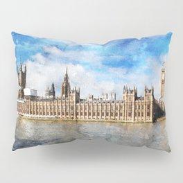 london-parliament-river-thames Pillow Sham