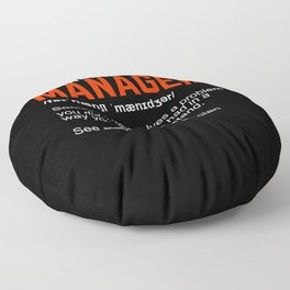 Financial Manager Definition Gift Floor Pillow