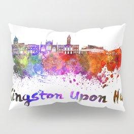 Kingston Upon Hull skyline watercolor Pillow Sham