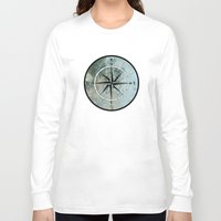 compass Long Sleeve T-shirts featuring Compass by madbiffymorghulis