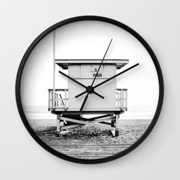 Beach Photography black and white print Wall Clock