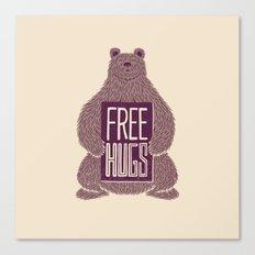 Free Hugs Bear Canvas Print