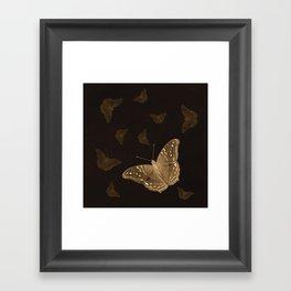 Butterflies in the dark Framed Art Print