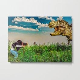 Wildlife Photographer Photo Bomb Metal Print