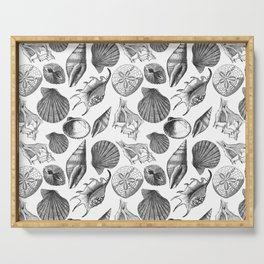 Sea and Ocean Life-Shell Pattern - Mix & Match with Simplicity of life Serving Tray