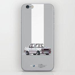 BMWE30 Car Poster iPhone Skin