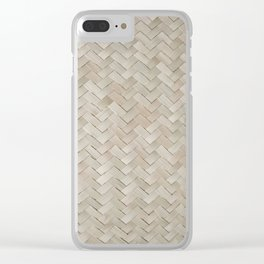 Woven straw Clear iPhone Case