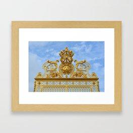 The Golden Gates of Versailles Framed Art Print