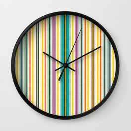 retro stripe Wall Clock