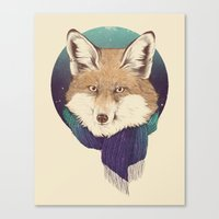 fox Canvas Prints featuring Fox by Laura Graves