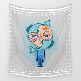 pisces zodiac sign Wall Tapestry