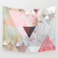 triangles Wall Tapestries featuring Graphic 3 by Mareike Böhmer