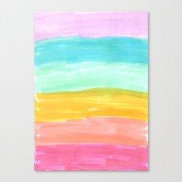 spring rainbow stripes Canvas Print
